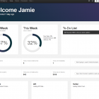 Dashboard home page